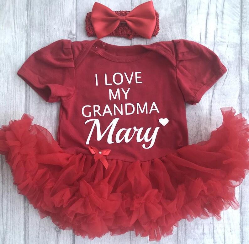 8b8a3c68857 Baby Girl s I Love My Grandma Personalised Name Tutu