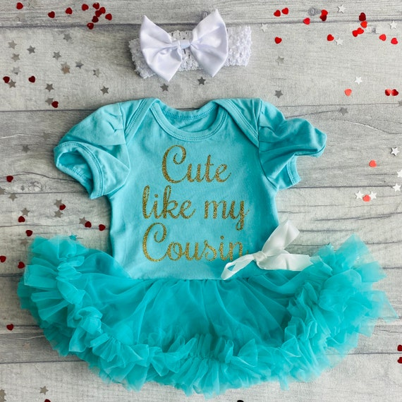 Present Shiney Princess Cousins make the Best Friends Pink tutu romper with bow headband Newborn Multi-coloured Love Baby Girl Heart