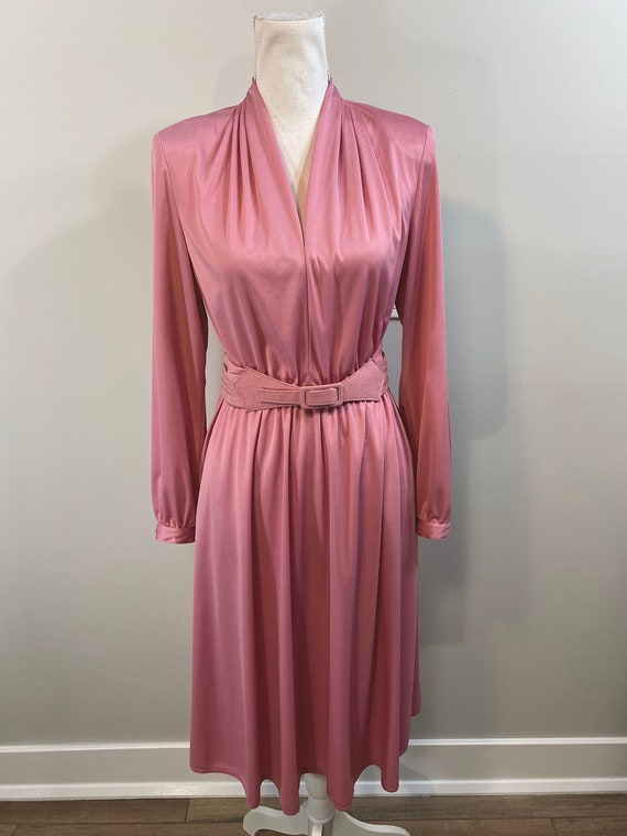 Vintage Bubblegum Pink Dress with Matching Pleated