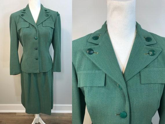 Vintage Girl Scout Uniform Suit.  1940s Girl Scout
