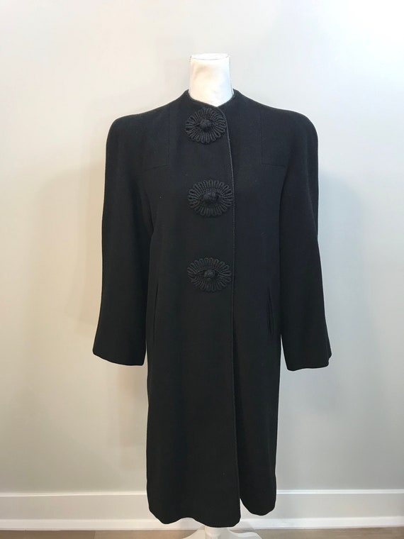 Vintage Late 1930s/Early 1940s Wool Evening Coat.