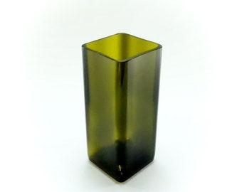 Flower vase from up-recycled oil bottle