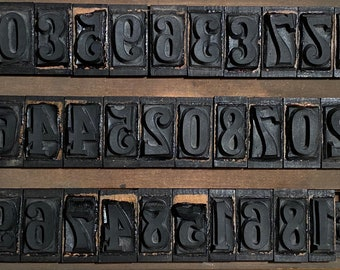 30 true vintage print digits typography