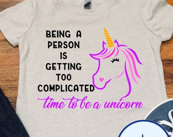 Time to be a Unicorn Girls Tee
