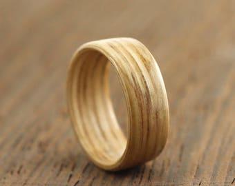 Wooden Ring Handmade From Oak, Oak Bentwood Ring, Wooden Ring, Brown Ring, Natural Ring, Handmade Ring,