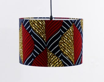 30cm Drum Lampshade, Lampshade for ceiling lights, Red Lampshade