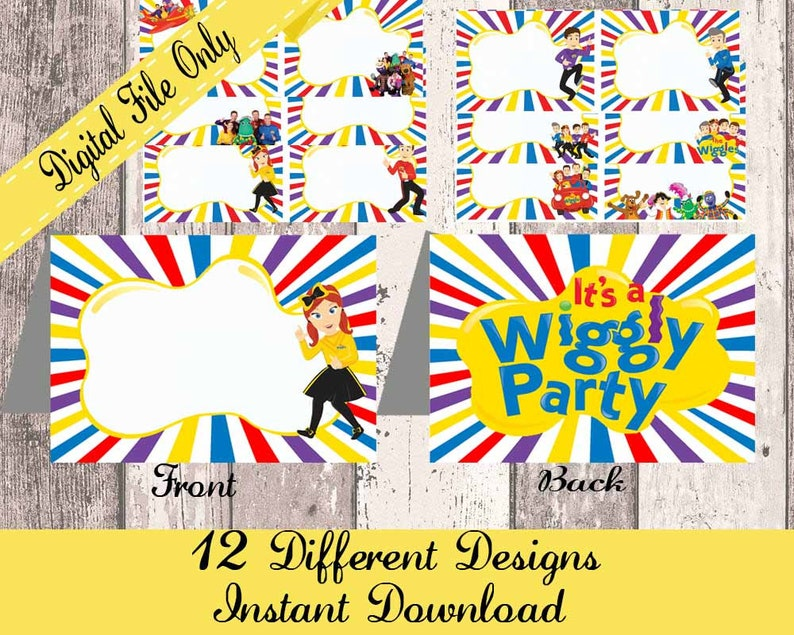 The Wiggles Wiggles Food Tents Wiggles Party Decoration Etsy