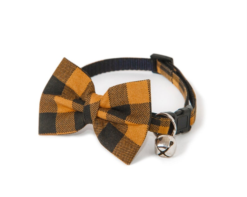 The Rascal  Bow ties for cats  Handmade  Plaid bow tie  image 0