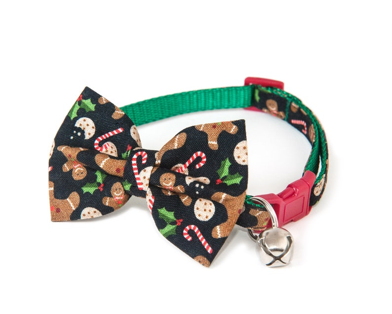 The Treat  Bow ties for cats  Handmade  Black bow tie  image 0