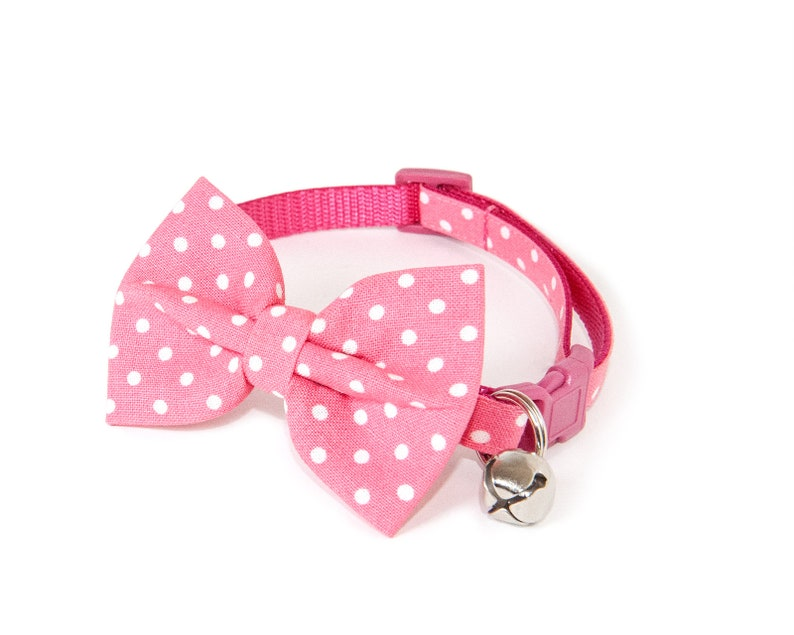 The Pastel  Bow ties for cats  Handmade  Pink bow tie  image 0