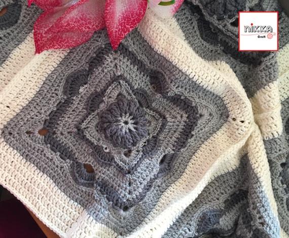 Copertina uncinetto in lana per neonati coperta per etsy