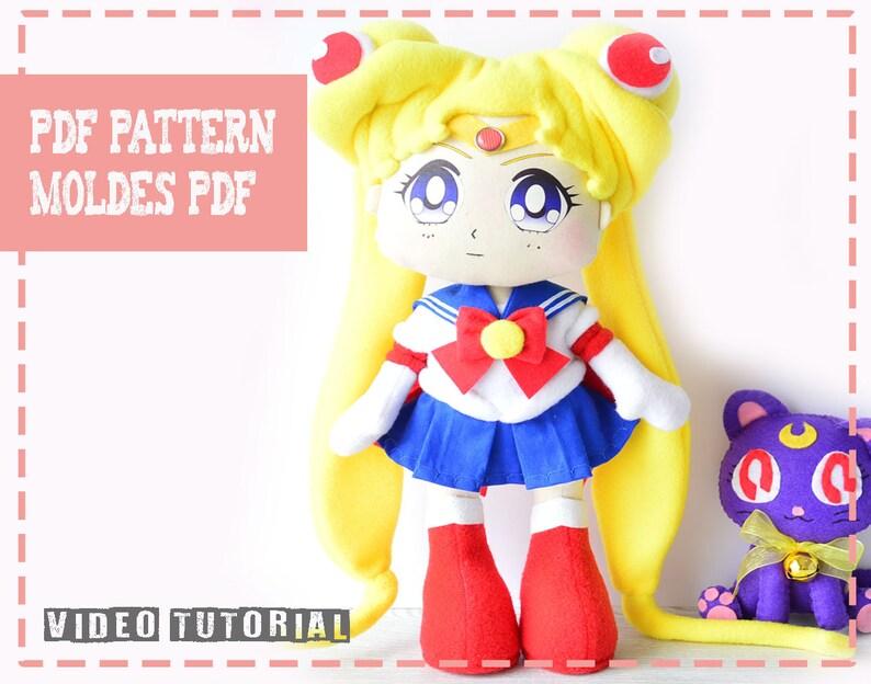 f79433fde Patrón de muñeca Sailor Moon