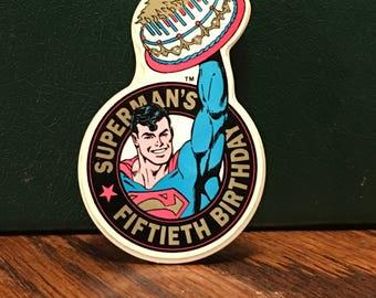 DC Comics Superman's Fiftieth Birthday Magnet