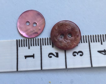Pink shell button