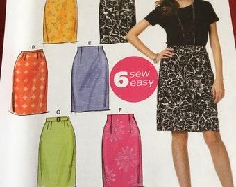 Butterick sew easy skirt pattern