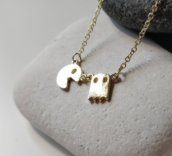Pacman Necklace Gamer Jewelry Gift Pac Man Jewelry Ghost Etsy