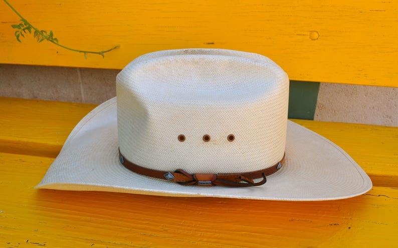 51637a0f15c03 Vintage Stetson Men s Cowboy Hat Straw 8X size 7 1 8
