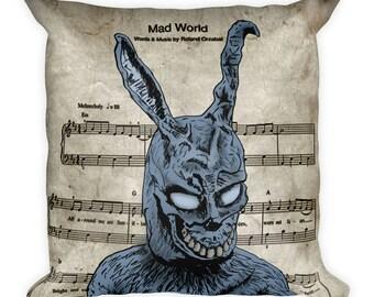 Donnie Darko Mad World Square Pillow