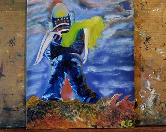 Forbidden Planet 8x10 Inch Oil Painting