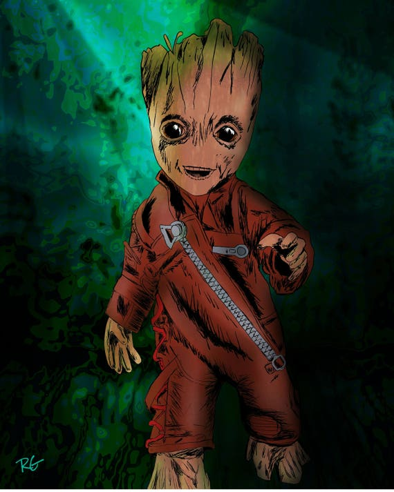 Baby Groot im Kampf Anzug Wächter des Galaxy Marvel Comics   Etsy ebc63b651f