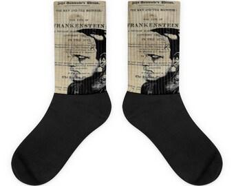 Frankenstein Book Page Socks