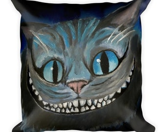 The Cheshire Cat Alice In Wonderland Square Pillow