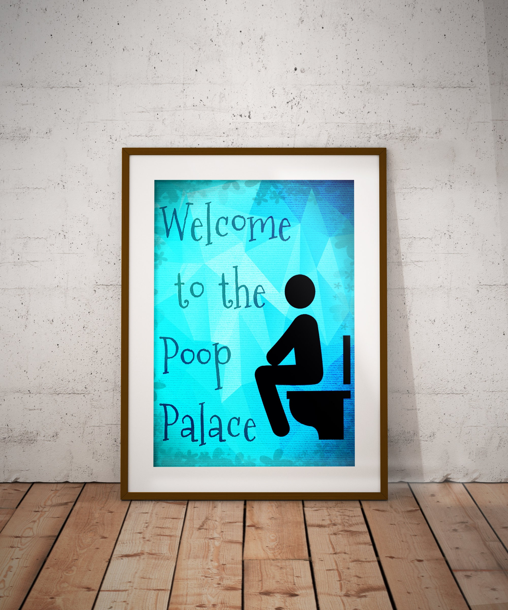Welcome To The Poop Palace Bathroom Wall Art Print | Etsy