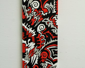 Abstract Acrylic Wall Painting on Wrapped Canvas- A Dragon's Dream