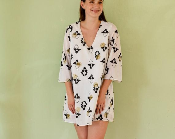 A-line dress - ladies print