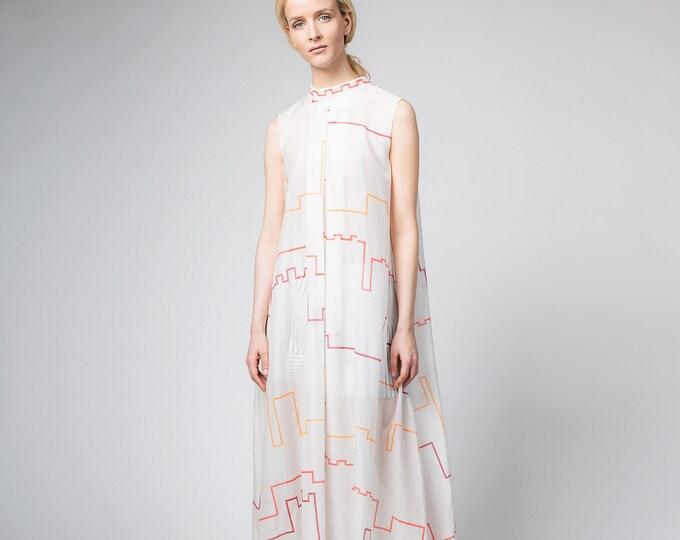 White maxi dress, Boho Festival clothing, Long kaftan dress, Aesthetic white summer dress,  Bohemian oversize sundress