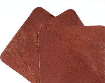 "Diaz Brown Scrap Leather Craft Remnant 6"" x 6"" TD120"