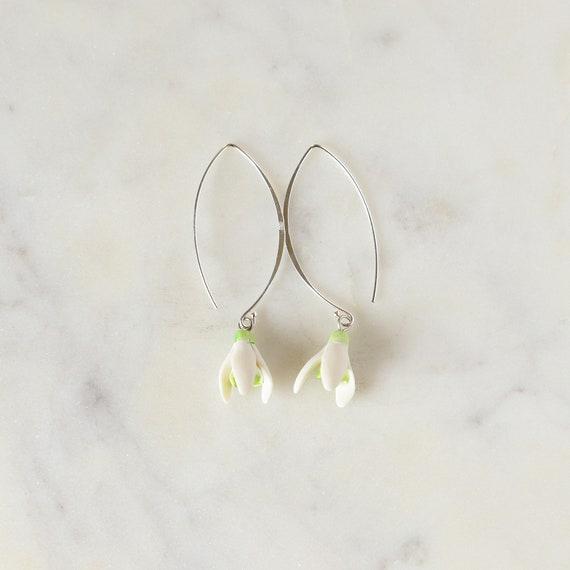 Ceramic Flower Earrings