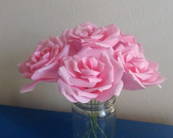 Large Paper Roses Etsy