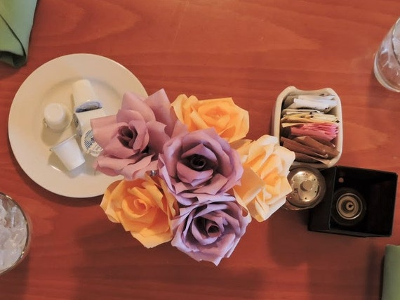 Paper roses paper flowers coffee filter flowers floral art etsy image 0 mightylinksfo