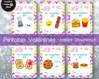 Perfect Pair Valentine Cards Instant Download Perfect Pair Valentine Cards Printable Valentine Days Cards