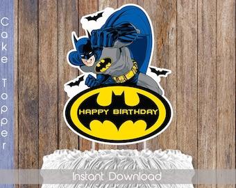 Batman Cake Topper Digital Printable Birthday Decoration INSTANT DOWNLOAD