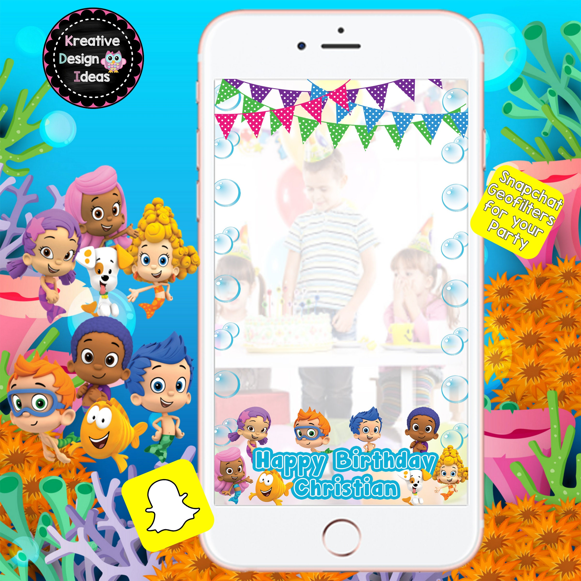 Bubble Guppies Snaptchat Filter Snapchat for Bubble Guppies | Etsy