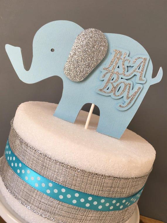 Elephant Cake Topper Elephant Centerpiece Elephant Baby Etsy