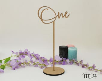 Wedding table numbers / timber / wood table numbers