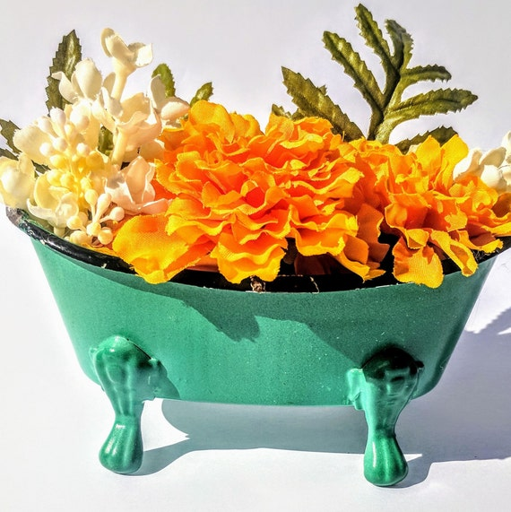 White And Orange Floral Arrangement White And Yellow Floral Etsy