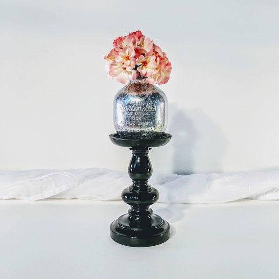 Mercury Glass Vase Mercury Glass Bud Vase Silver Vase Bud Etsy