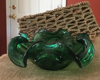 Vintage Emerald Green Dish