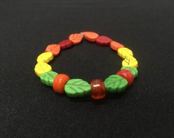 Fall autumn leaf bracelet