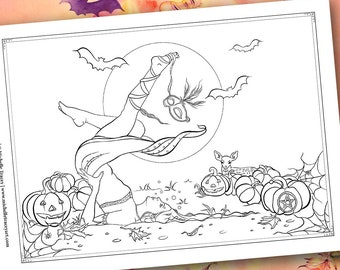 Halloween Coloring Pages Sienna And The Deer Celebrate