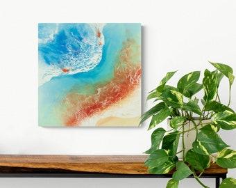 "Ocean Resin Art | ""Blazing Beauty"" | Original Resin Beach Painting"