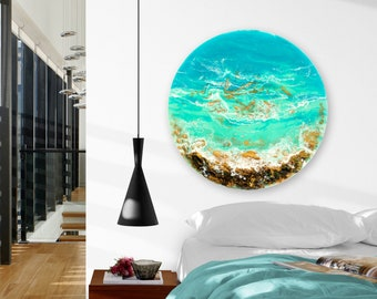 "Ocean Resin Art | ""Adrift"" | Original Seascape Painting"