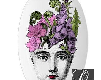 Purple Wildflower Platter,melamine platters,dinnerware,serving trays,face platters,vintage botanical,wildflower platter,flower plate #p143