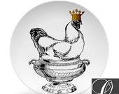 Chicken Art Plates,chicken soup art plate,ThermoSāf dinnerware 355