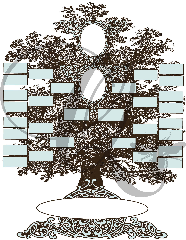 Family Tree Printabledigital Downloadfamily Photo Etsy