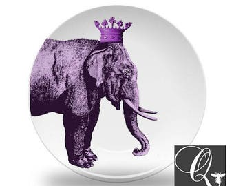 Elephant Art Platepurple dish setselephant dinnerwareanimal art platesmelamine platespurple kitchen decorelephant dishesgift for #41  sc 1 st  Etsy & Elephant dishes | Etsy